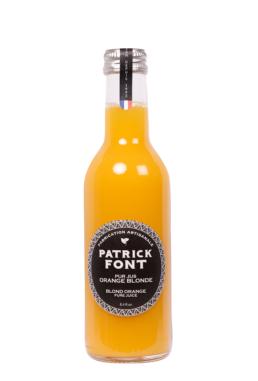 Small bottle of orange juice