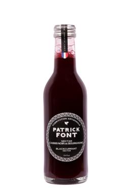 Small bottle of Burgundy Blackcurrant nectar