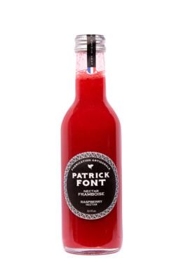 Small bottle of raspberry nectar