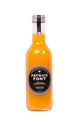 Small bottle of mandarin juice
