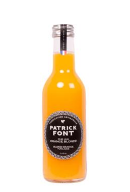 Small bottle of orange pure juice
