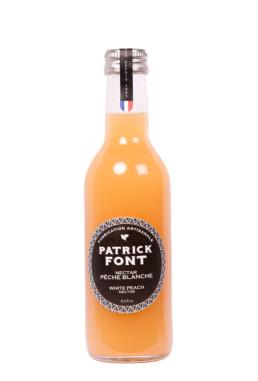 Small bottle of white peach nectar