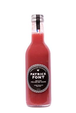 Bottle of vine peach nectar