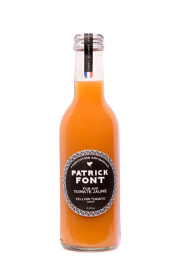 Small bottle of Yellow Tomato Juice