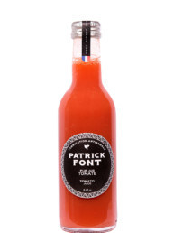 Small bottle of red tomato juice