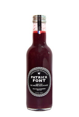 Small bottle of blackberry nectar