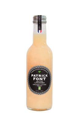Small bottle of organic lychee nectar