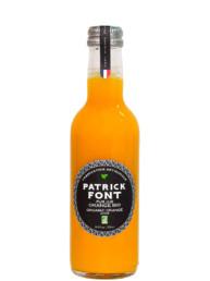 Bottle of organic orange juice